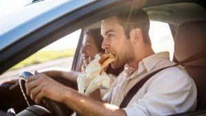Eating in car